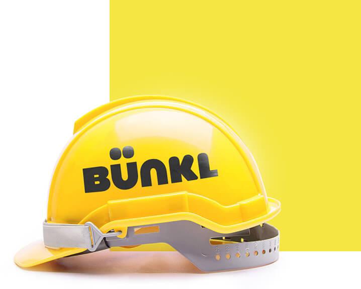 Casque de chantier jaune Bünkl