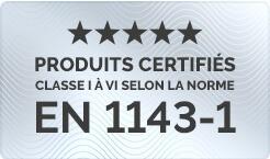 Certification EN 1143-1