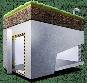 Construction bunker souterrain NRBC