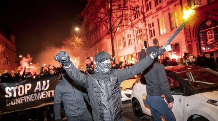 Manifestation anti-confinement au Danemark